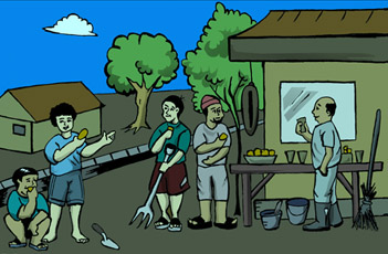 Gambar Kartun Kegiatan Di Rumah Gambar Kegiatan Sehari Hari Di Rumah Bahan Ajar Tematik Tema