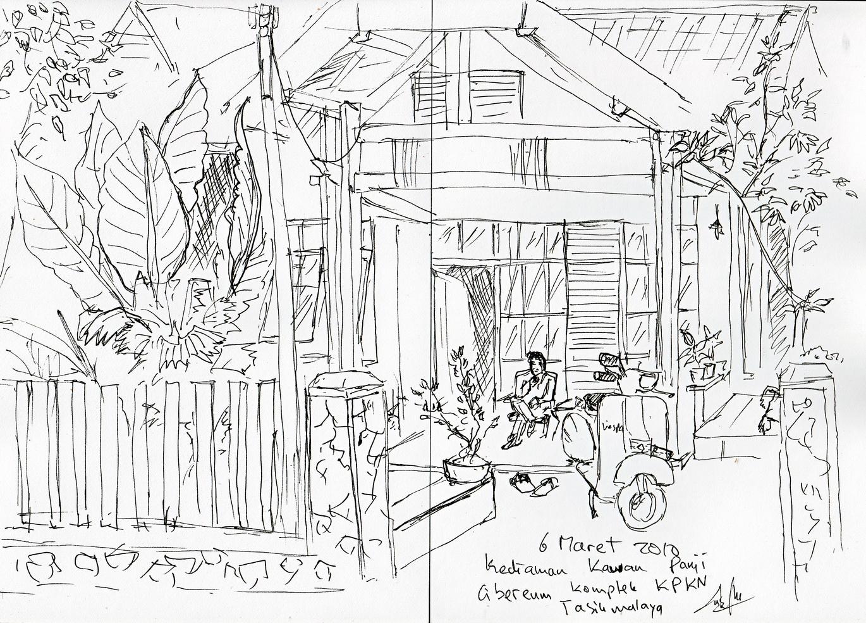 Kumpulan Sketsa Gambar Orang Jawa Desa